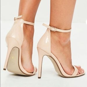 Missguided Nude Barely There Heels